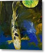 Bekko Butterfly Koi Metal Print by Michael Creese