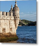 Belem Tower Fortification On The Tagus River Metal Print
