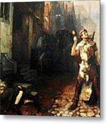 Belgian Ferdinand Pauwels The Plague In Ypres Metal Print