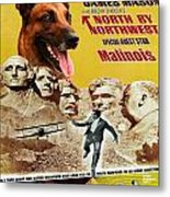 Belgian Malinois Art Canvas Print - North By Northwest Movie Poster Metal Print