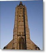 Belgium. Oudenarde. Sint-walburgakerk Metal Print