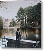 Belgium Reflections In Water Metal Print