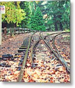 Belgrave Puffing Billy Railway Track Metal Print