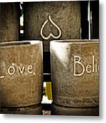 Believe In Love - Photography By William Patrick And Sharon Cummings Metal Print