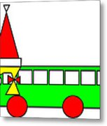 Belinda The Bus Wishes You A Merry Christmas Metal Print
