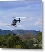 Bell 206 Helicopter Metal Print