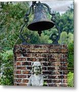 Bell Brick And Statue Metal Print