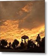 Bell Tower At Sunset Metal Print