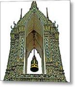Bell Tower In Wat Po In Bangkok-thailand Metal Print