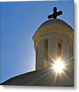 Bell Tower Sun Burst  Tumacacori Mission Metal Print