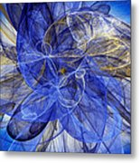 Bella Blue Metal Print