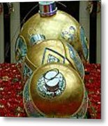 Bellagio Christmas Ornaments Metal Print