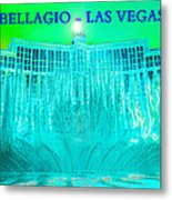 Bellagio Fountains Las Vegas Metal Print