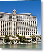 Bellagio Resort And Casino Panoramic Metal Print