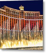 Bellagio Water Show Metal Print