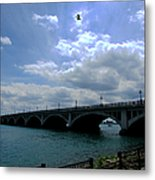 Belle Isle Bridge Detroit Metal Print by Michael Rucker