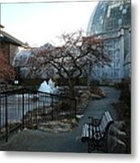 Belle Isle Conservatory Courtyard Metal Print