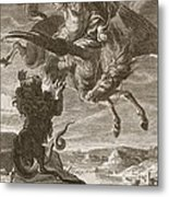 Bellerophon Fights The Chimaera, 1731 Metal Print