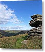 Bellever Tor On Dartmoor Metal Print