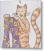 Belling The Cat 'well Metal Print