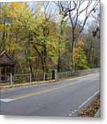Bells Mill Road In Autumn Metal Print