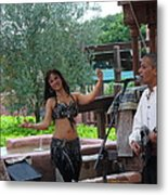 Belly Dancer And Performer At Morocco Pavilion Metal Print