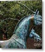 Belmond Charleston Place Horse Fountain Metal Print