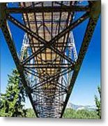 Below A Bridge Metal Print