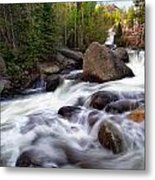 Below Alberta Falls Metal Print