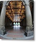 Belvedere Fountain Arcade Metal Print