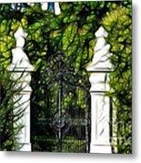 Belvedere Palace Gate Metal Print