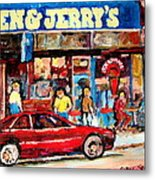 Ben And Jerrys Ice Cream Parlor Metal Print