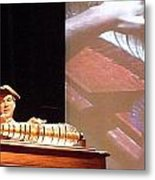 Ben Franklin Glass Harmonica Metal Print