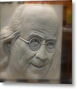 Ben Franklin Looking Out Metal Print by Richard Reeve