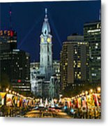 Ben Franklin Parkway And City Hall Metal Print