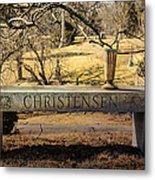 Bench At Spring Grove Metal Print