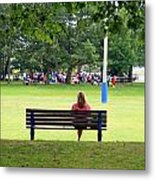 Bench Thoughts Metal Print