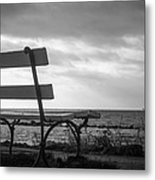 Bench With A View Metal Print