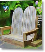 Benches Metal Print