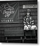 Benches For Jockeys Only Metal Print