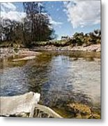 Bend In The Breamish River Metal Print