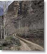 Bend In The Road - Waterfalls Metal Print