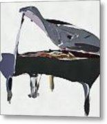 Bendy Piano Metal Print
