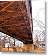 Beneath Euharlee Covered Bridge Metal Print