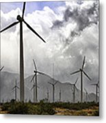 Beneath The Clouds Palm Springs Metal Print