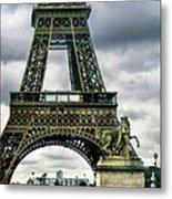 Beneath The Eiffel Tower Metal Print