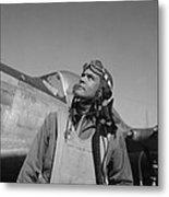 Benjamin Davis - Ww2 Tuskegee Airmen Metal Print