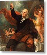 Benjamin Franklin Drawing Electricity From The Sky Metal Print