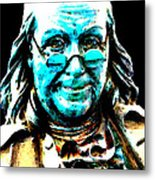Benjamin Franklin - Historic Figure Pop Art By Sharon Cummings Metal Print by Sharon Cummings