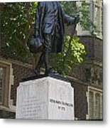 Benjamin Franklin Statue University Of Pennsylvania Metal Print